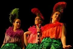 Jasmin Manuel, Sarah Trama & Caitlin Jiear as The Birdgirls